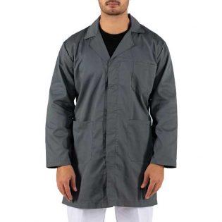 Batas de Homem em sarja estão disponíveis em várias cores e têm um bolso no peito e dois bolsos laterais e ainda ajuste e punho com botões