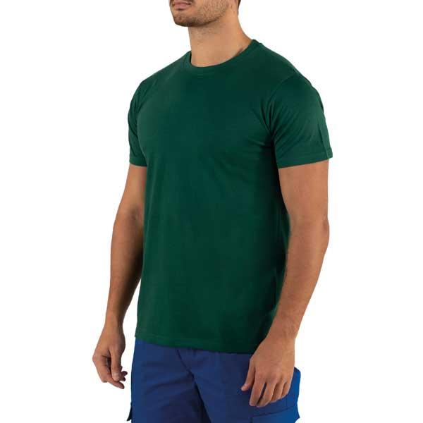 Com decote redondo canelado 1×1 com elastano para maior elasticidade e costura duplas nas mangas e bainha para mais estabilidade