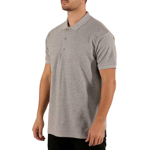 Polos de manga curta unissexo 100% algodão, com carcela de 3 botões e excelentes detalhes de acabamento