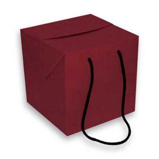 """A caixa presente """"cube"""" é em cartão microcanelado e tem um desenho elegante, é resistente e fácil de montar"""