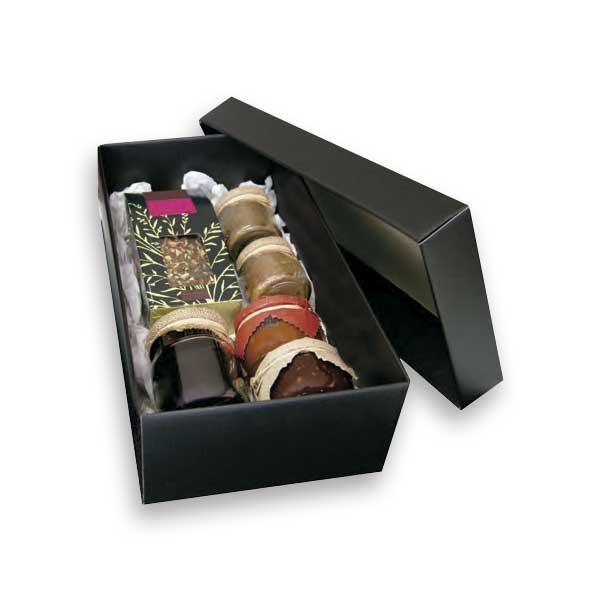 As caixas para presentes com tampa são ideais para ofertas especiais.