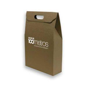 Caixas kraft para garrafas personalizadas