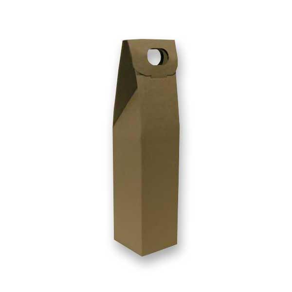 A caixa de cartão para garrafas com acabamento original em cartão microcanelado liso, está disponível em formatos para 1, 2 e 3 garrafas
