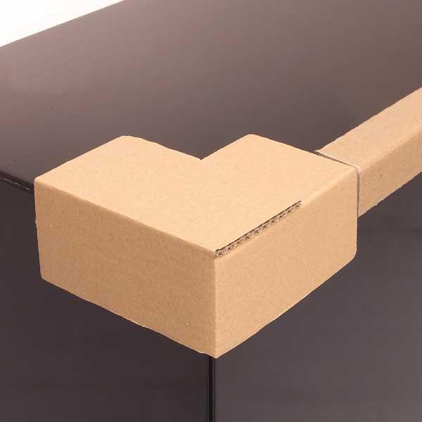 Os cantos de cartão colados são utilizados para o reforço das embalagens e para a proteção dos produtos durante o transporte e armazenagem