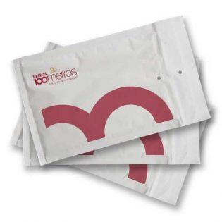 Estes envelopes almofadados personalizados têm uma impressão personalizada da sua empresa, marca ou produto