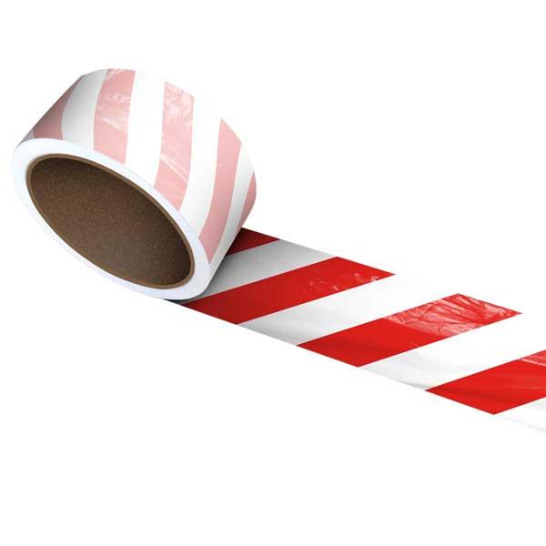 A fita sinalizadora listada é utilizada para a marcação de áreas de risco, como áreas de armazenamento ou áreas de passagem, especialmente na indústria, aeroportos, centros desportivos, entre outros
