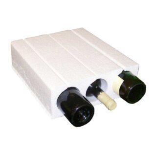 A garrafeira de poliestireno garante a proteção das suas garrafas