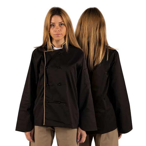 Jalecas de manga comprida larga unissexo em vivo sarja estão disponíveis em várias cores