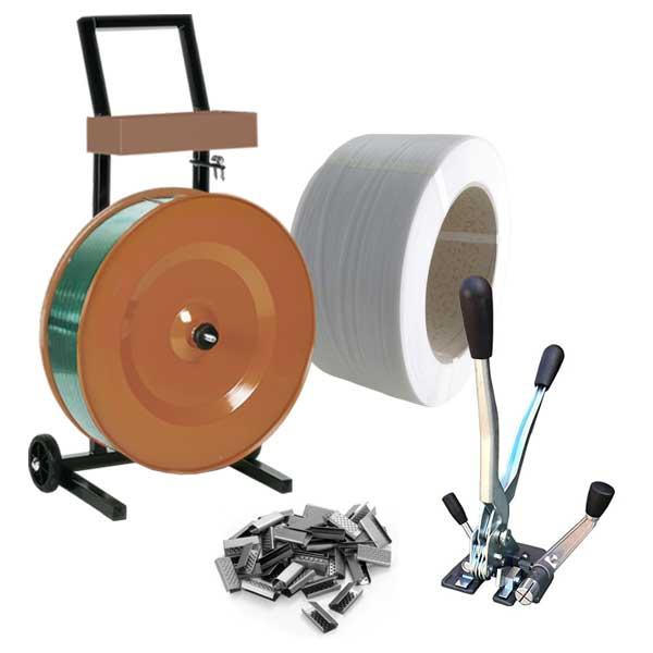 Kit de cintagem manual polipropileno para cintas de 12mm
