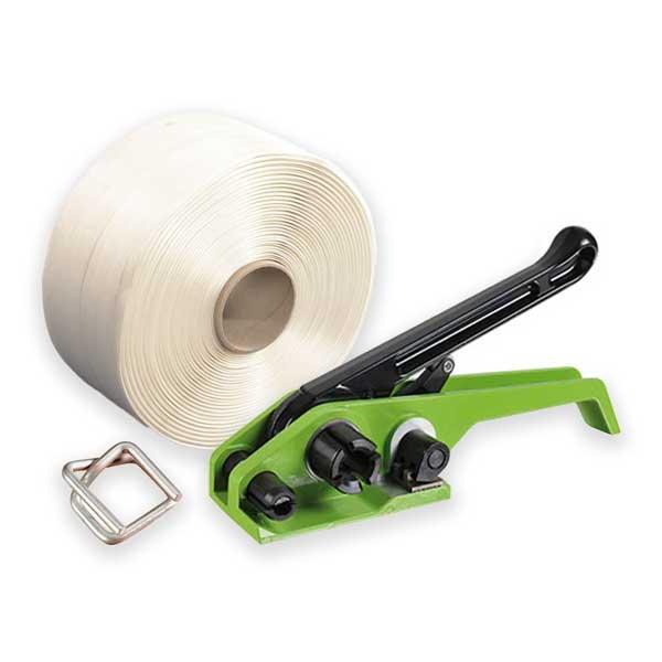 Kit de cintagem manual têxtil para cintas de 19mm