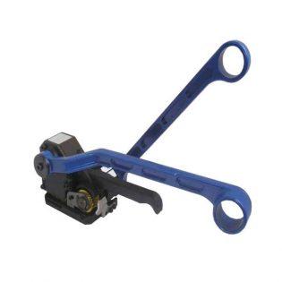 Fácil de usar pois só precisa de colocar manualmente a cinta à volta da embalagem e utilizar a máquina para prender a cinta.