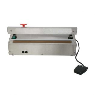 A máquina de selar sacos com pedal é um equipamento de mesa compacto e poderoso para trabalhos pesados