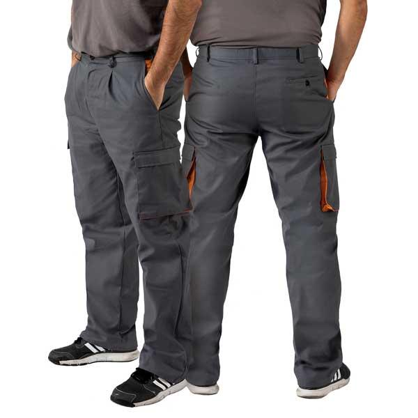 Calças bicolor com elástico na cintura em várias cores