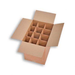 Caixa de Cartão Duplo com divisórias para Garrafas
