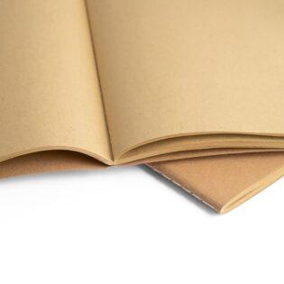 Bloco de notas A5 com capa em cartão e cantos redondos
