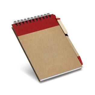 Contém 120 páginas lisas de papel reciclado e capa rígida em cartão