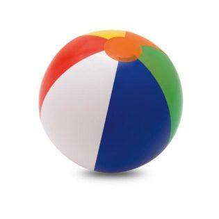 Bola de praia insuflável com várias cores em PVC opaco