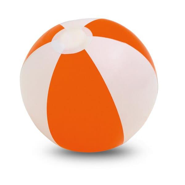 Bola em PVC opaco com riscas coloridas