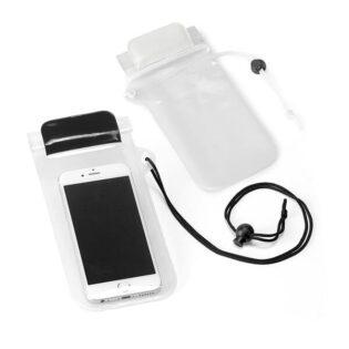 Bolsa de telemóvel em PVC resistente à água com fita ajustável com mola