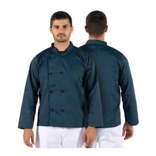 As jalecas de manga comprida larga unissexo em vivo sarja estão disponíveis em várias cores