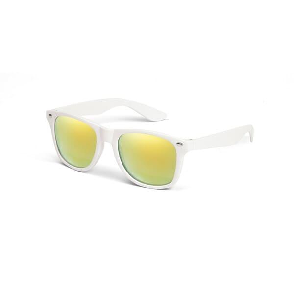 Óculos de sol em PC com lentes espelhadas e proteção 400 UV