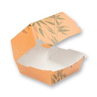 As caixas para hambúrguer em cartolina são ideais para takeaway