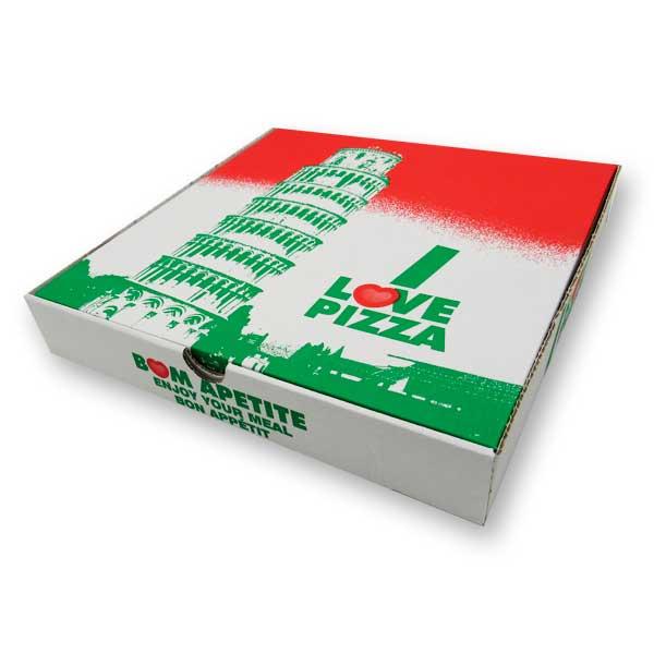 As caixas de pizza são ideais para takeaway