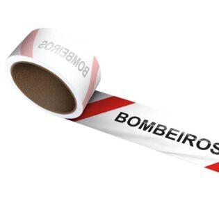 A fita sinalizadora Bombeiros é utilizada para a marcação de áreas de risco