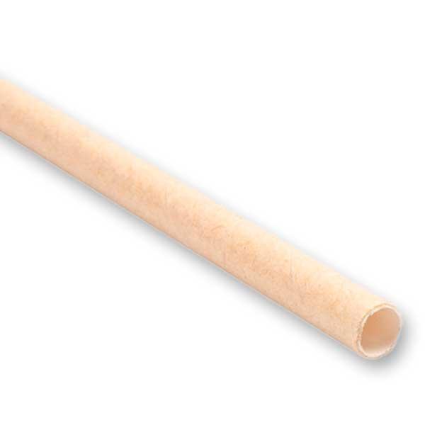 Palhinhas de papel kraft 100% biodegradáveis descartáveis e ideais para takeaway.
