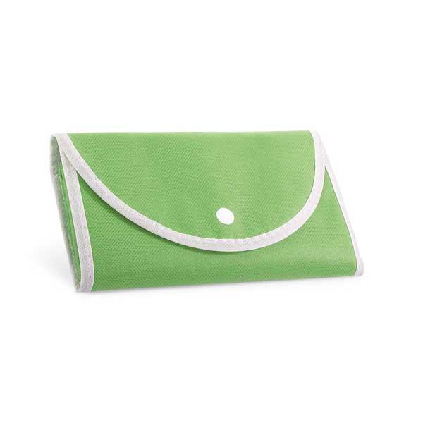 Saco dobrável em non-woven (80 g/m²) com alças de 38 cm