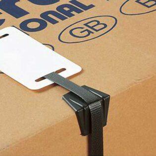 Cantos de plástico para proteção de cintas até 24mm de largura