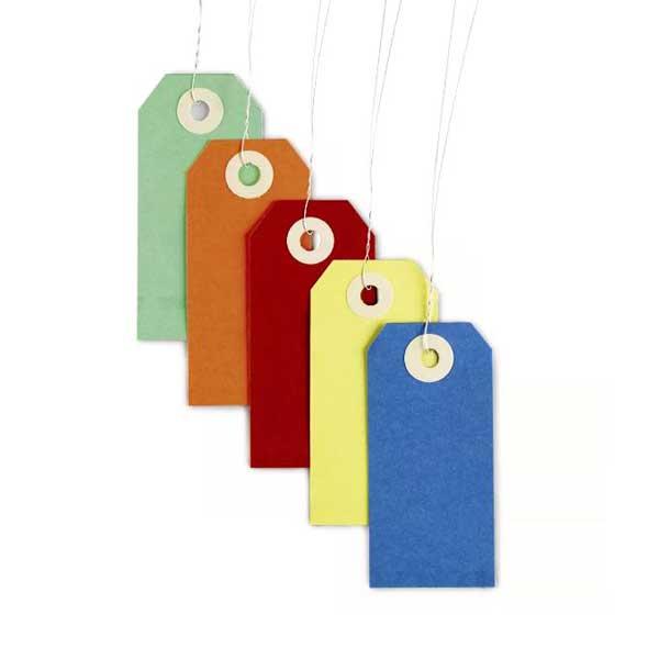 As etiquetas de cartão são utilizadas para a identificação de diferentes materiais