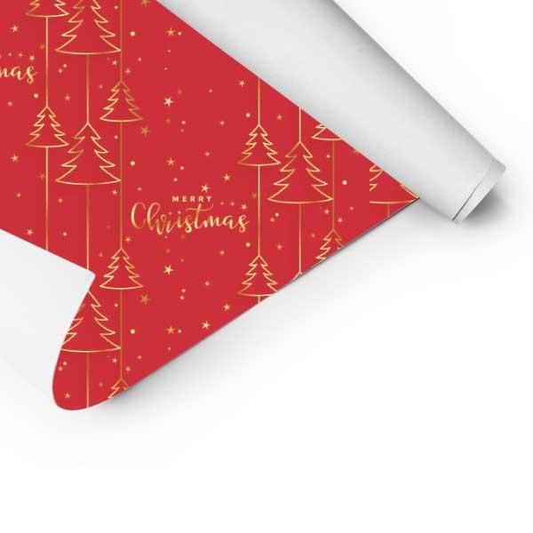 Papel de embrulho com desenhos natalícios