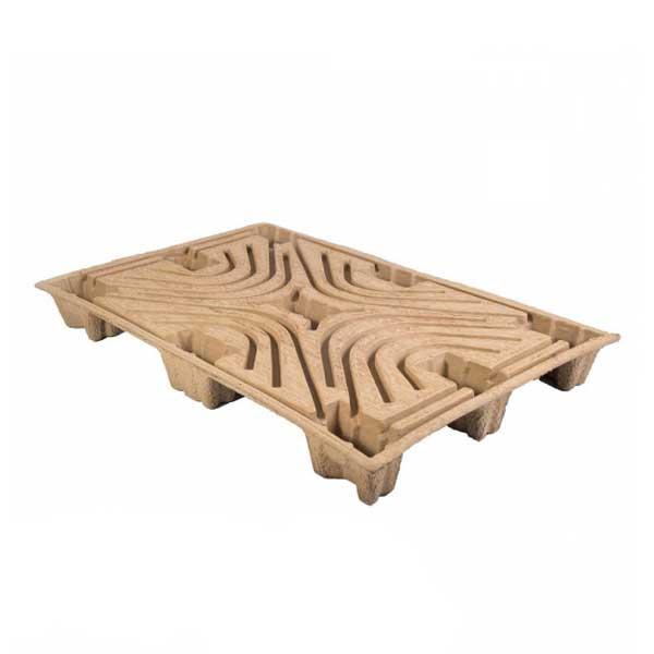 As paletes de cartão são um substituto mais barato e de fácil utilização para paletes de madeira ou de plástico