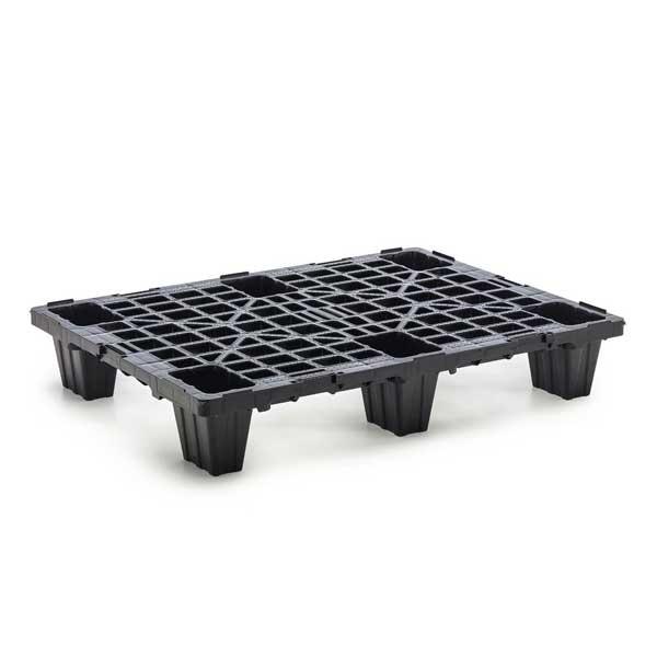 As paletes de plástico são destinadas para cargas pesadas e uso industrial
