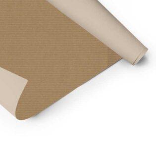 Papel de embrulho kraft disponível em várias cores, ideal para embalar os seus presentes