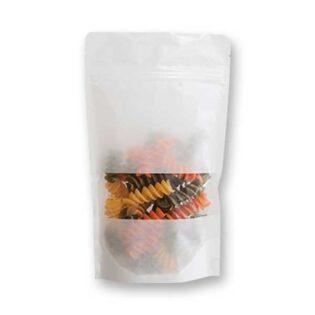 Saco Stand Up , estilo doypack com fecho zip hermético, em papel de arroz