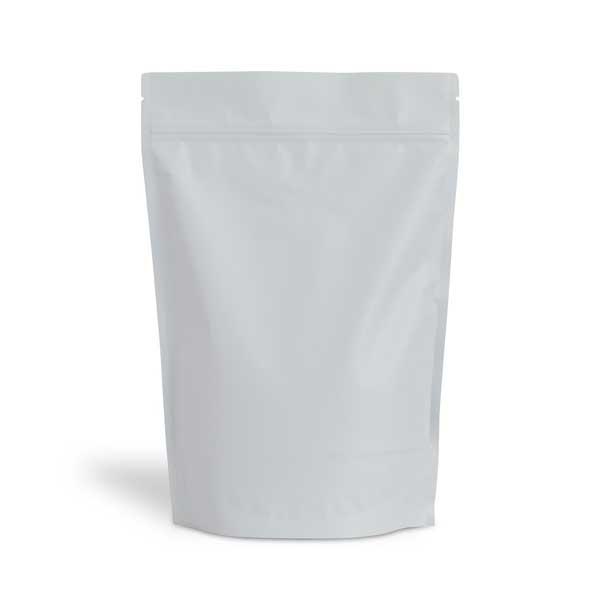 Saco Stand Up, estilo doypack com fecho zip hermético, em papel sem janela